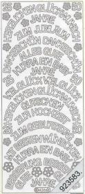 Stickers 0426 - gr. Schrift rund - gold