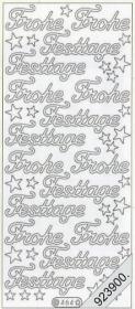 Pegatinas Text-Sticker - deutsch Frohe Festtage - plata
