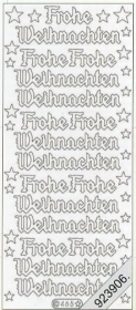 Stickers Text-Sticker - deutsch Frohe Weihnachten - silver