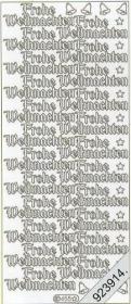 Stickers 0455 - Frohe Weihnachten - silber