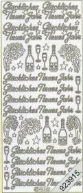 Stickers 0453 - Glückliches Neujahr - gold