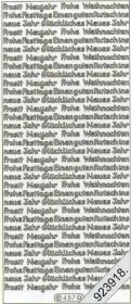 Pegatinas Text-Sticker - deutsch - plata