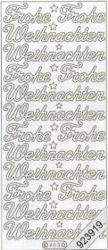 Pegatinas Text-Sticker - deutsch - gold  Frohe Weihnachten - oro