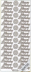 Stickers english - Happy Birthday - white