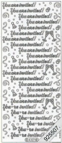 Stickers Text Stickers - english - silver