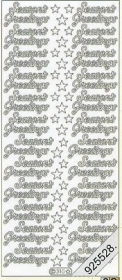 Stickers Seasons Greetings - gold
