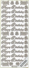 Stickers english - Happy Birthday - gold