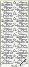 Stickers Merry Christmas - silber