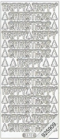 Stickers Happy Christmas - silber