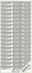 Stickers Happy Christmas - gold