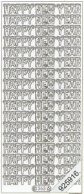 Stickers Happy New Year - silber