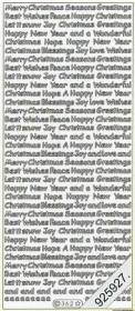 Pegatinas english - Various Christmas - oro