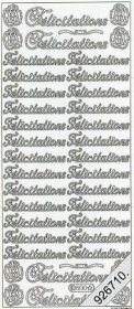 Stickers 0500 - Felicitations - silber