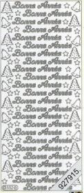Stickers 0552 - Bonne Ann??e - silber