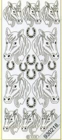 Stickers Figuren / Pferde-silber - silber