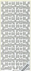 Stickers 1110 - Schmetterlinge - silber