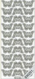 Stickers 0822 - kleine Schmetterlinge - silber