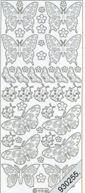 Stickers 0818 - Marienk. + Schmetterl. - gold