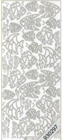 Stickers Fische - silber