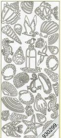 Stickers Meeresfrüchte gold - gold