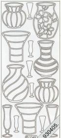 Stickers Vasen silber - silber