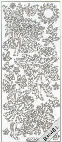 Stickers 0906 - Blumenkinder 1 - silber