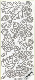 Stickers 1029 - Blatt und Eichel - gold
