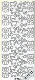 Stickers Babybär Kaninnchen gold - gold