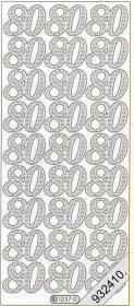 Stickers Zahlen - silver