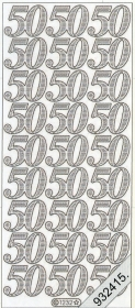 Stickers Jubiläum 50 Jahr gold - gold