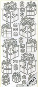 Stickers 1050 - Geschenkschachtel - gold