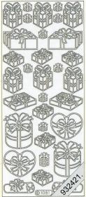 Stickers Figuren / Motive - silber