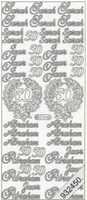 Stickers 0216 - Abraham+Sara 50 Jahre - gold