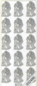 Stickers 0109 - Heiraten - silber