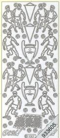 Stickers Fußball Pokal silber - silber