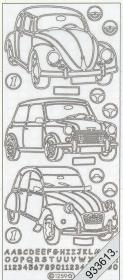 Stickers Fahrzeug gold - gold