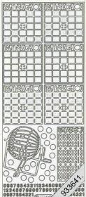 Stickers Bingo silber - silber