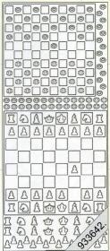 Stickers Dame und Schach gold - gold