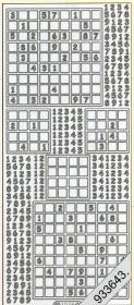 Stickers Sudoku silber - silber