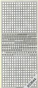 Stickers Kreuzworträtsel silber - silber