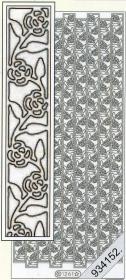 Stickers Rahmen,Rosen am Stiel gold - gold