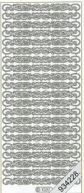 Stickers Rand breit gol - gold