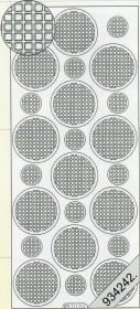 Stickers Ganze-rund weiß - white