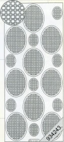 Stickers Vierecke in Oval schwarz - black