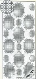 Stickers Vierecke in Oval schwarz - schwarz