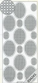 Stickers Mosaik - silber