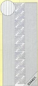 Stickers Bordüren / Linien - schwarz-gold - gold