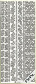 Stickers 1033 - Ecken+Rand - gold