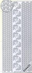 stickers - Bord?ren / Linien silver