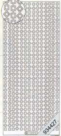 Stickers Bordüren / Linien - silber